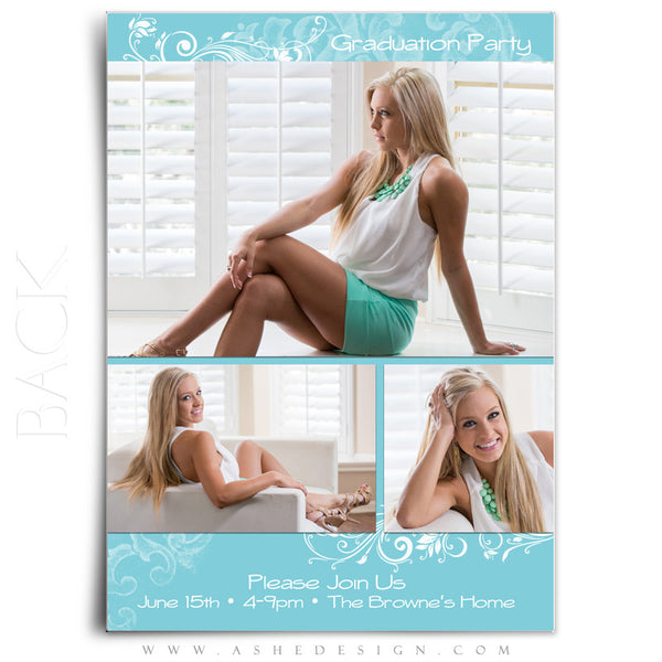 Senior Graduation Template | Color Block back web display