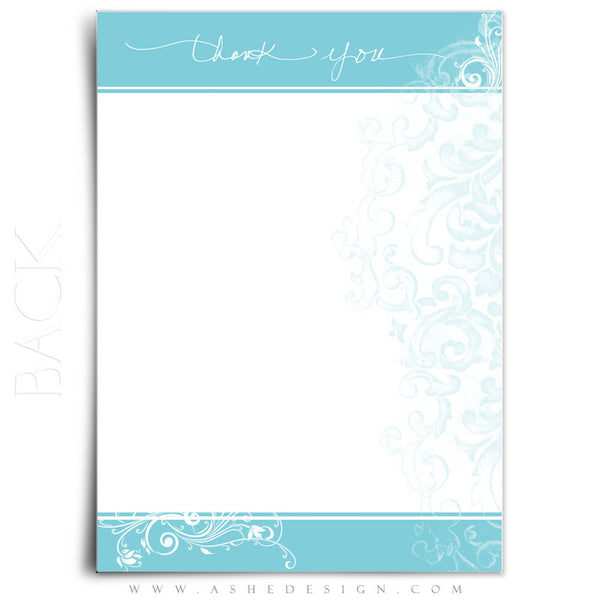 Thank You Note Templates | Color Block back