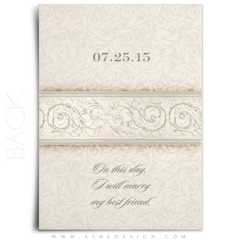 Wedding Invitation & Thank You Template Set | I Do – AsheDesign