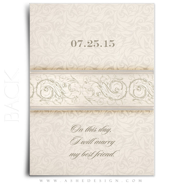 I Do Wedding Invitation Template back