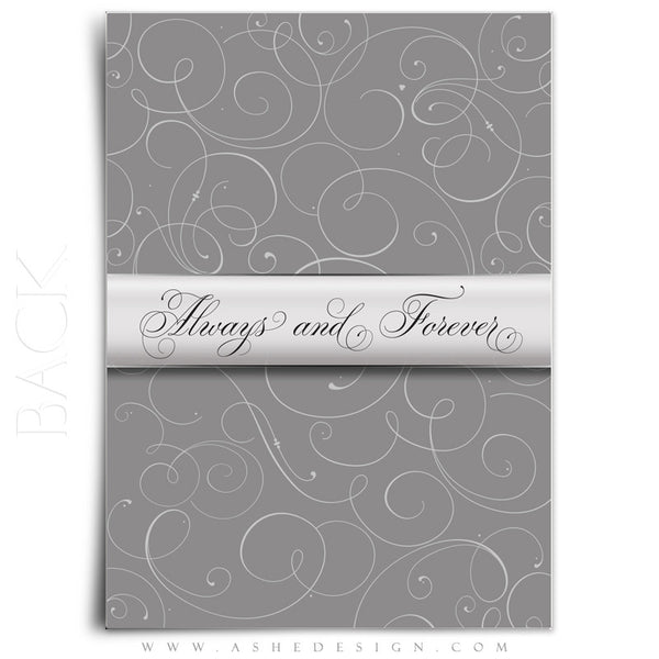 Always & Forever Wedding Invitation Template back