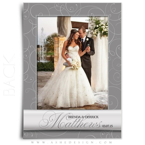 Always & Forever Wedding Thank You Template back