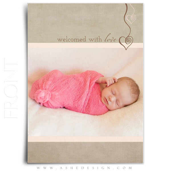Girl Birth Announcement Template | Gracie Marie front