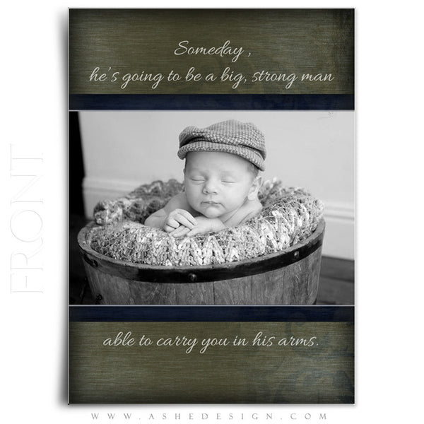 Boy Birth Announcement Templates | Cameron Michael  front