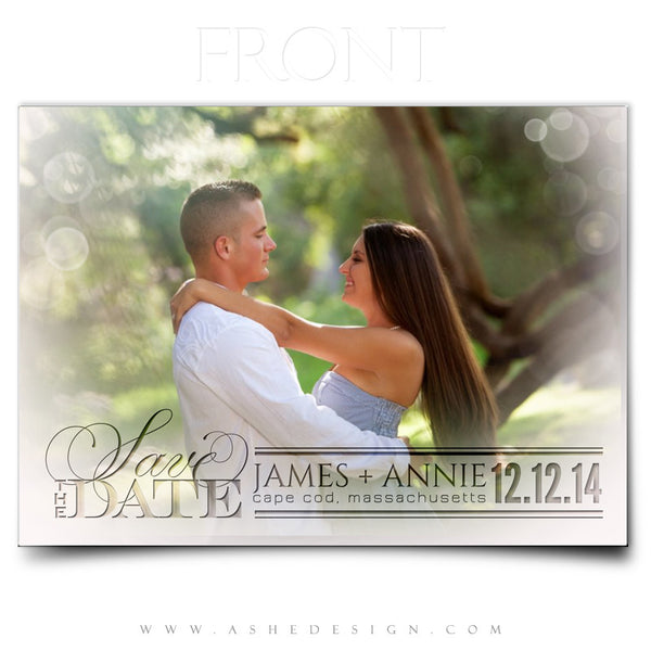 Save The Date Templates | Enchantment front