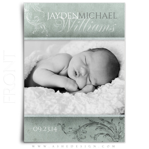 Birth Announcement Templates | A Mother's Love front