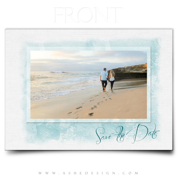 Save The Date Templates | Watercolors front