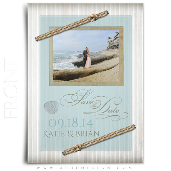 Save The Date Photography Templates | By The Seashore front