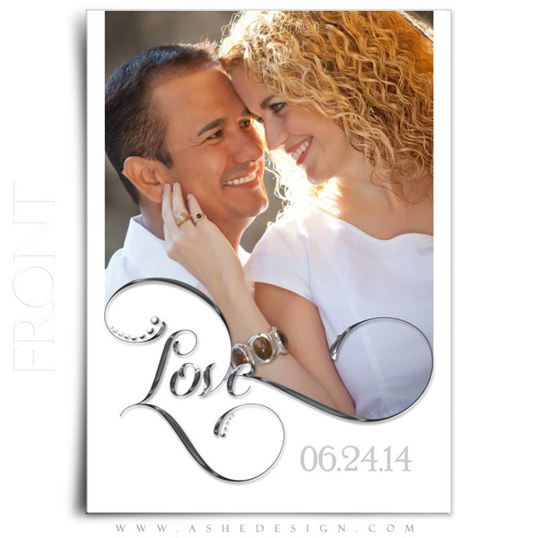 Save The Date Photography Templates | Simply Worded Love front