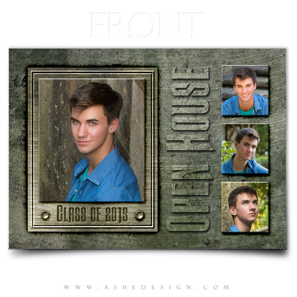 Senior Boy Announcement 5x7 | Engraved Metal front