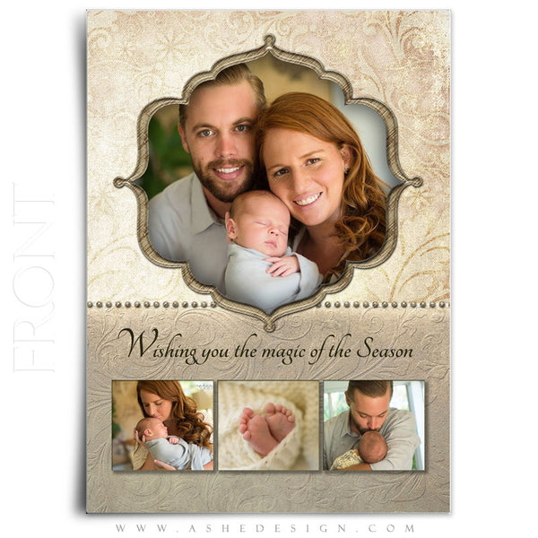 Christmas Card Photoshop Templates | Victorian Garden front 2014