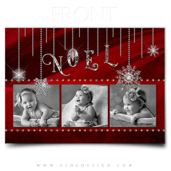 Christmas Card Photoshop Templates | Noel front