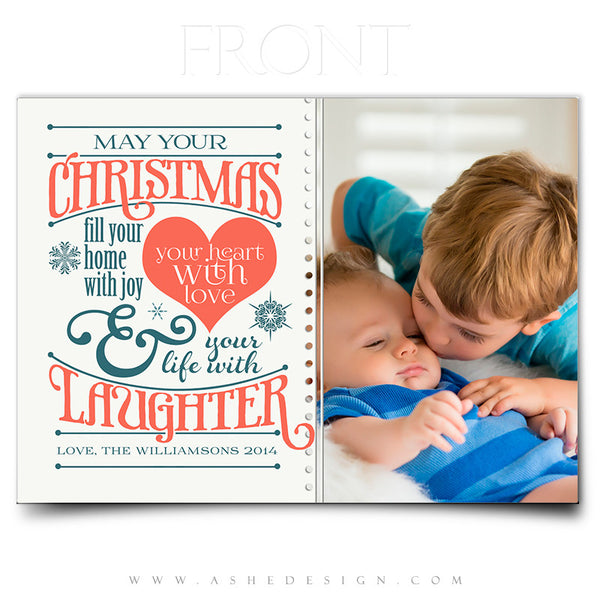 Christmas Flat 5x7 Card Templates | Christmas Laughter front