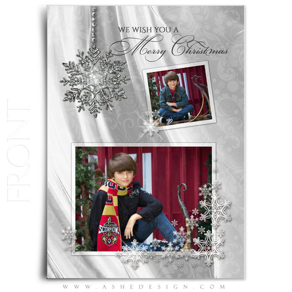 Christmas 5x7 Flat Card Templates | Dreaming Of A White Christmas front
