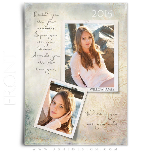 Senior Girl Graduation Invitation Template | All You Need