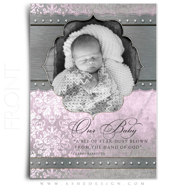 Girl Birth Announcement | Christina front