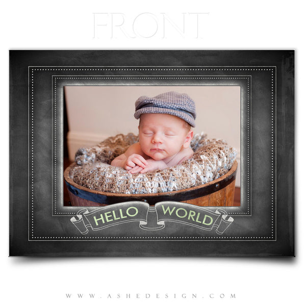 Chalkboard Baby Boy -5x7 Flat Card Front web display