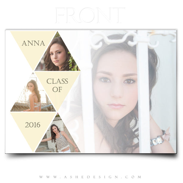 Senior Girl 5x7 Graduation Card | Symmetry front