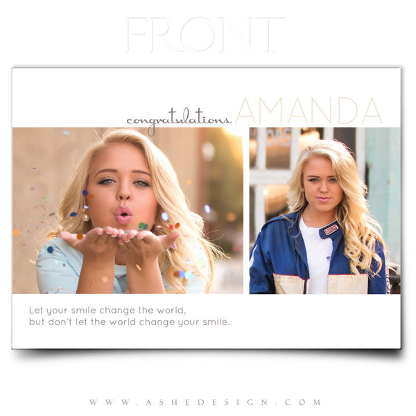 Ashe Design | 5x7 Senior Girl Graduation Invite | Front