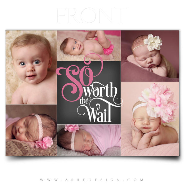 Worth The Wait 5x7 Flat Card Front web display