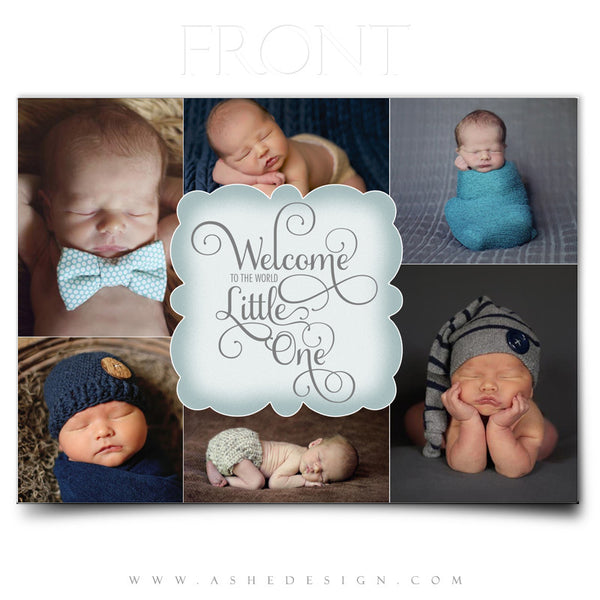 Welcome Little One - 5x7 Flat Card Front web display