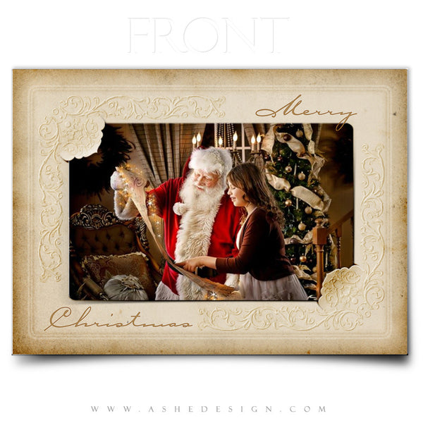 Christmas Card Template | Yesteryear front