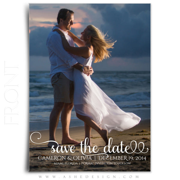Save The Date Template | Damask Elegance front