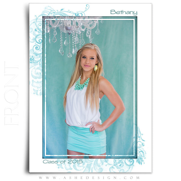 Senior Graduation Template | Color Block full front display