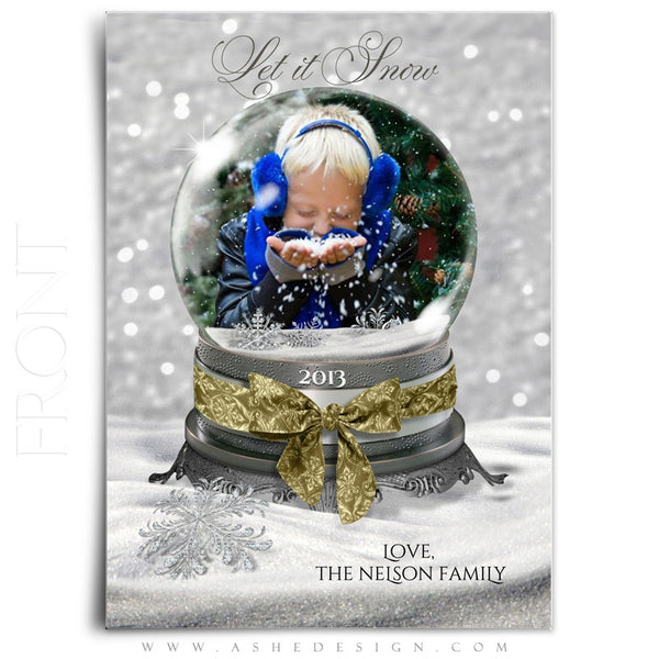 Snow Globe - Let It Snow 5x7 flat card front web display
