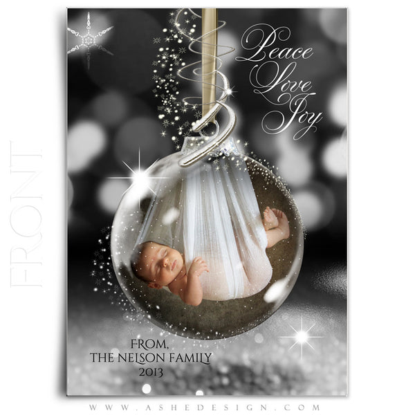 Star Dust Glass Ornament 5x7 Card Front web display