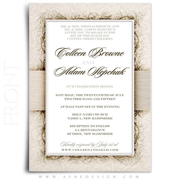 I Do Wedding Invitation Template front