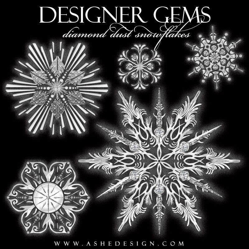Designer Gems | Diamond Dust Snowflakes2 full set