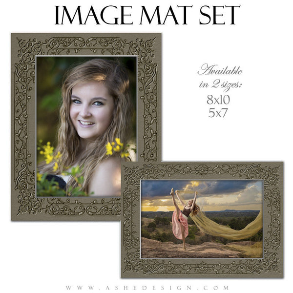 Image Mat Templates | Embossed Filigree set