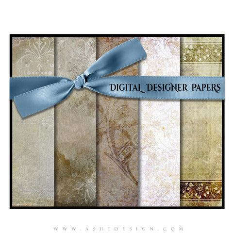 Ashe Design | Digital Designer Papers | Antique Parchment full set