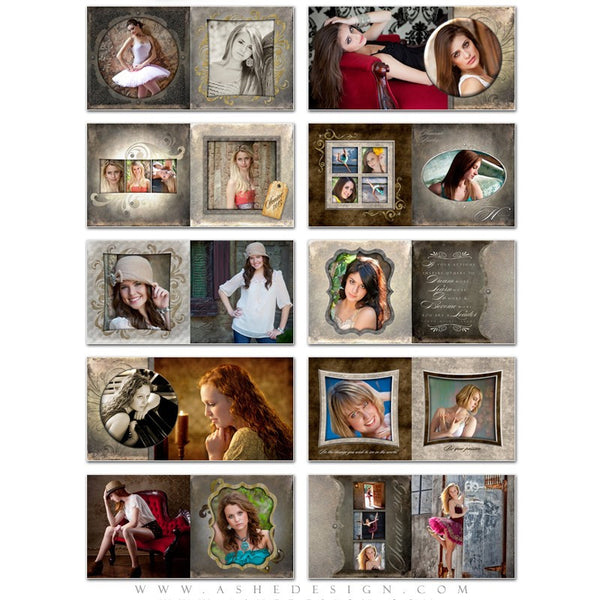 Photo Book 12x12 Template | Embossed pages