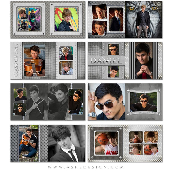 Photo Book 10x10 Template | Steel Mate pages