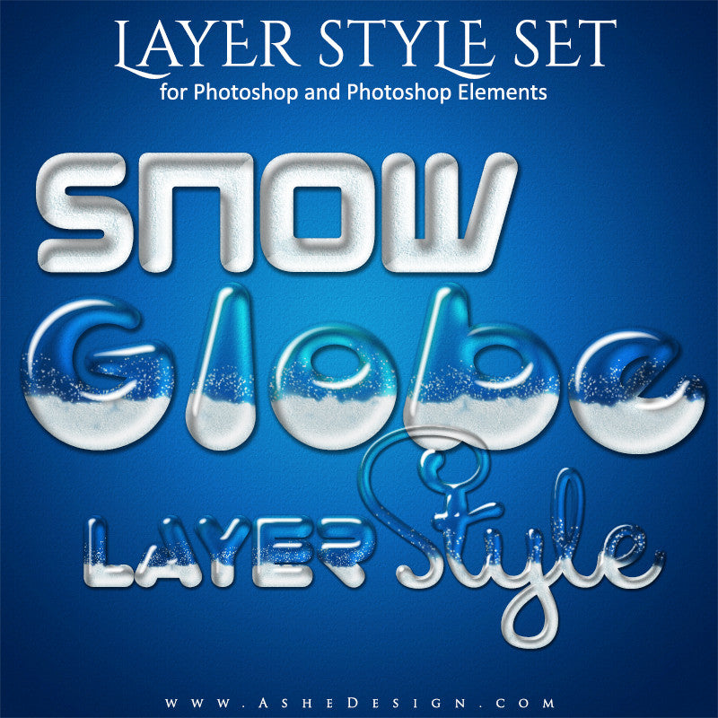 Photoshop Layer Styles | Snow Globe set
