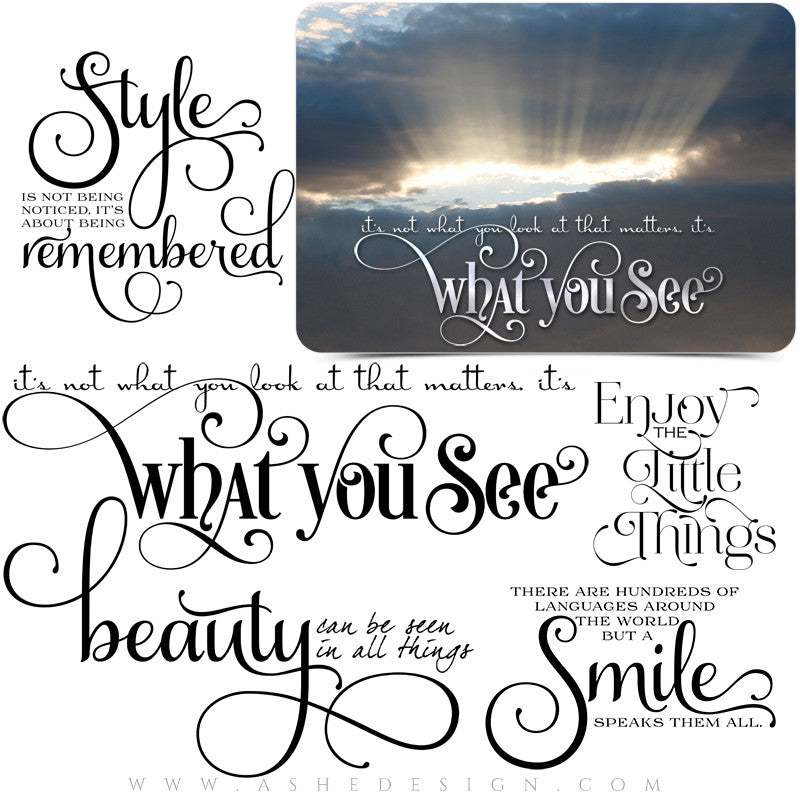 Photoshop Inspirational Word Art | What You See