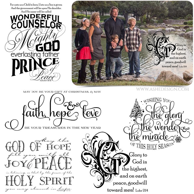 Photoshop Religious Word Art | Christmas Faith
