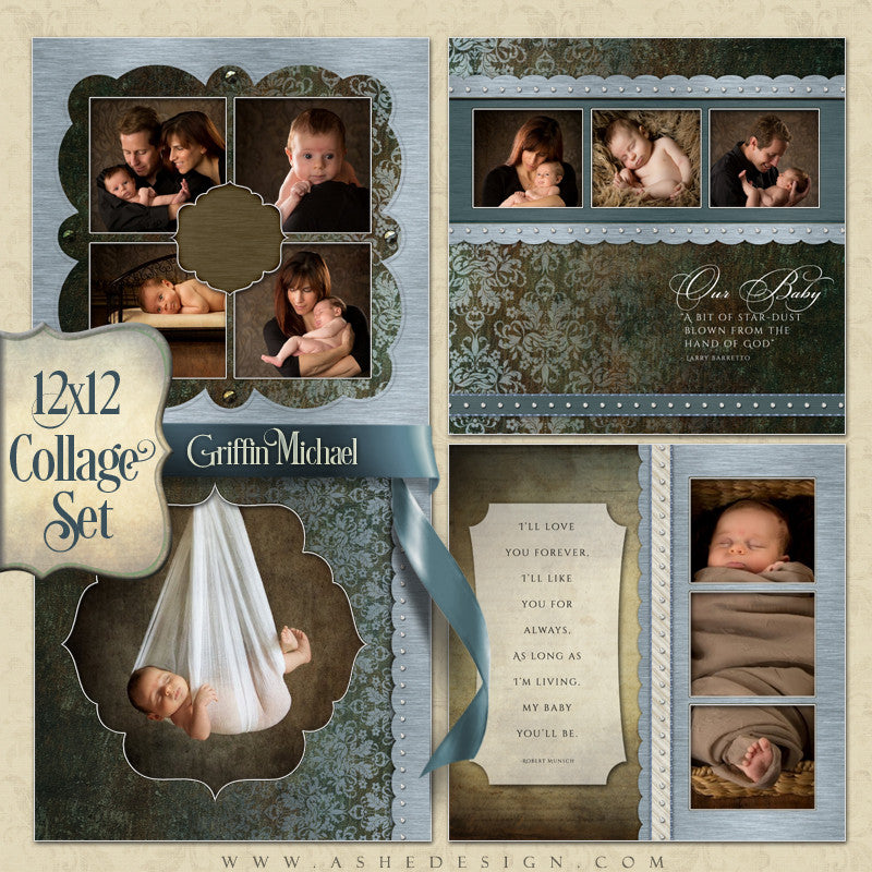 Collage Template Set (4) 12x12s | Griffin Michael