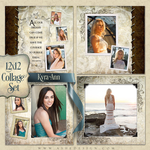 Collage Template Set (4) 12x12s | Kyra Ann
