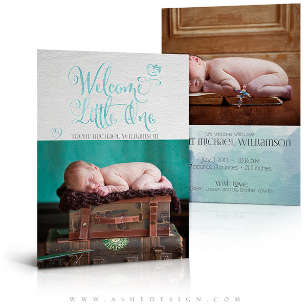 Birth Announcement 5x7 Flat | Simply Baby Trent 3D