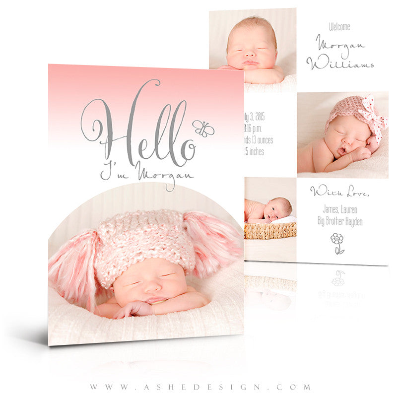 Birth Announcement 5x7 Flat | Simply Baby Morgan