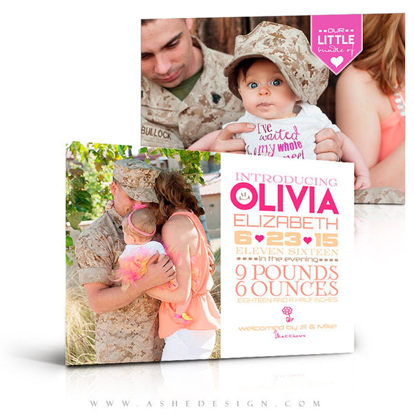 Birth Announcement 5x7 | Simply Baby Olivia