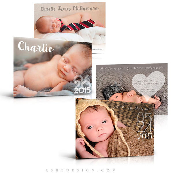 Birth Announcement Set | Simply Baby Charlie/Arianna