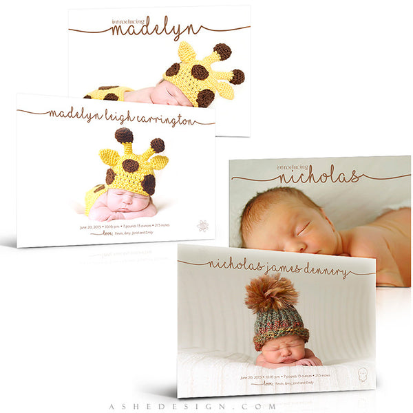 Birth Announcement Set | Simply Baby Madelyn/Nicholas