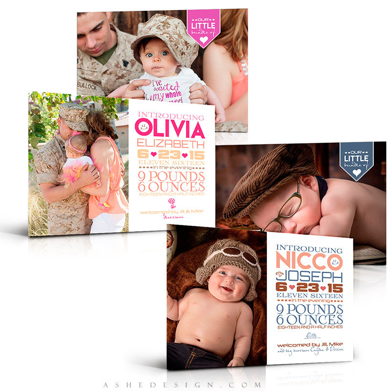 Birth Announcement Set | Simply Baby Nicco/Olivia
