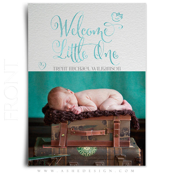 Birth Announcement 5x7 Flat | Simply Baby Trent front