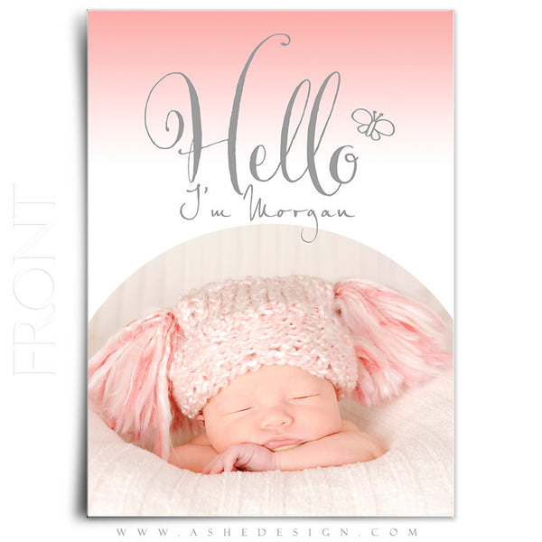 Birth Announcement 5x7 Flat | Simply Baby Morgan front