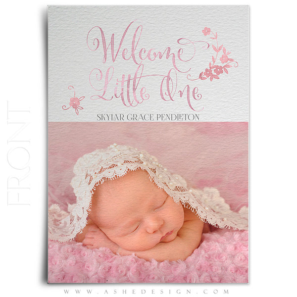 Birth Announcement 5x7 | Simply Baby Skylar front